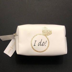 "Jade & deer ""I do"" travel toiletry bag"